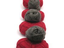 Gray and red new wool Stock Photo