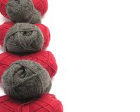 Gray and red new wool Stock Image