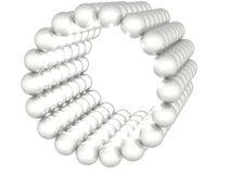 Gray reflective spheres on white background Royalty Free Stock Photography