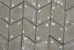 Gray rhombus paving stone Stock Image