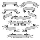 Gray Ribbons Set ilustración del vector