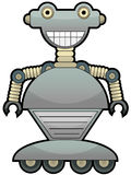 Gray robot with big smile wheel feet Royalty Free Stock Photo