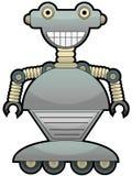 Gray robot with big smile wheel feet Royalty Free Stock Photo