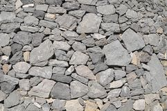 Gray Rock Ancient Wall Royalty Free Stock Photo