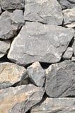 Gray Rock Ancient Wall Stock Image