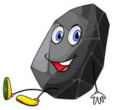 Gray rock with happy face Royalty Free Stock Photo