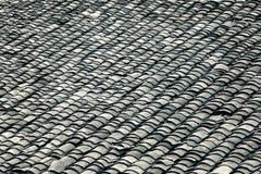 Gray roof tiles Stock Photos