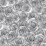 Gray rose seamless pattern Stock Photo