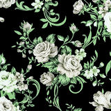 Gray rose vintage on fabric background Royalty Free Stock Images