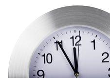 Gray round wall clock Royalty Free Stock Photos