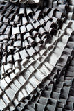 Gray ruffled skirt pleated texture Stock Photos