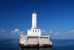 Gray's Reef Lighthouse. On the Straits of Mackinaw Stock Image