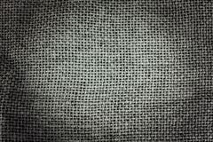Gray sackcloth background Stock Photography