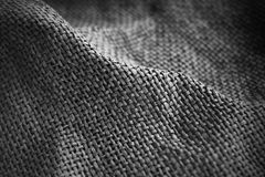 Gray sackcloth background Stock Photos