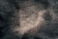 Gray sackcloth background Stock Image