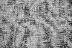 Gray sackcloth textured Stock Photography