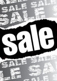 Gray sale poster Royalty Free Stock Images