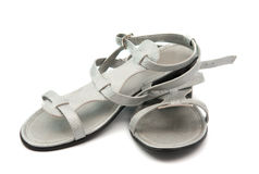 Gray sandals Royalty Free Stock Images