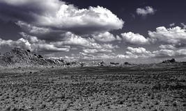 Gray Sands With Gray Skies and White Clouds Photography Royalty Free Stock Photography
