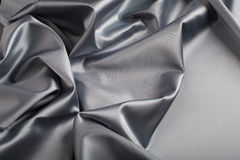 Gray satin background Stock Photography