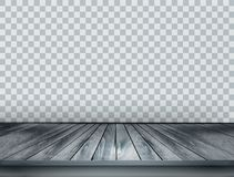 Gray scale background with wooden floor Stock Photo