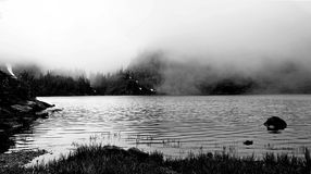 Gray Scale Body of Water Royalty Free Stock Photos