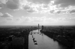 Gray Scale City View Photography Royalty Free Stock Photos