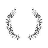 Gray scale crown formed with two olive branch Royalty Free Stock Photography