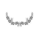 Gray scale half crown with olive long branch Royalty Free Stock Photos