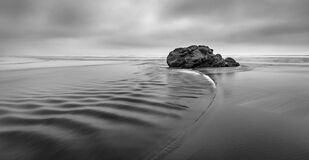 Gray Scale Photo of Body of Water Stock Image