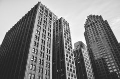 Gray Scale Photo of the Buildings Stock Photography