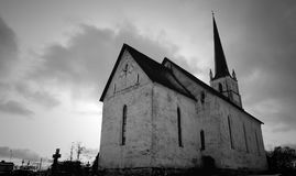 Gray Scale Photo of Church Stock Photography