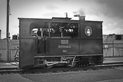 Gray Scale Photo of Classic Train Royalty Free Stock Image