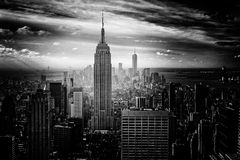 Gray Scale Photo of Empire State Building Royalty Free Stock Photo