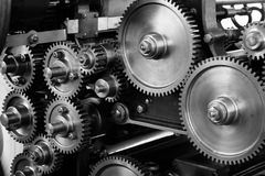 Gray Scale Photo of Gears Stock Images