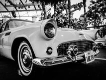 Gray Scale Photography of Car Stock Image