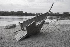 Gray Scale Playground Lizenzfreie Stockfotografie
