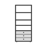 Gray scale silhouette with kitchen shelf Royalty Free Stock Photos
