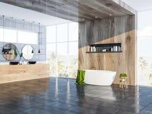 Gray Scandinavian-badkamershoek, ton en gootsteen Stock Illustratie