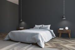 Gray Scandinavian-slaapkamerhoek Vector Illustratie