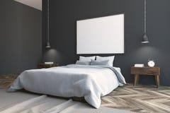 Gray Scandinavian-slaapkamerhoek, affiche Royalty-vrije Illustratie