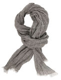 Gray scarf Stock Image