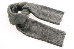 Gray Scarf for clothing. Beautiful gray scarf for clothing isolated on white background royalty free stock image