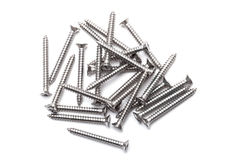 Gray screws Royalty Free Stock Images
