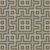 Gray seamless geometric pattern in folk style Stock Photo