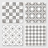 Gray Seamless Geometric Patterns ilustração stock