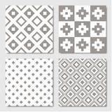 Gray Seamless Geometric Patterns ilustração do vetor