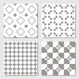 Gray Seamless Geometric Patterns ilustração royalty free