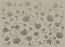 Gray seamless lotus pattern Royalty Free Stock Images