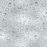 Gray seamless pattern of water drops Stock Photography